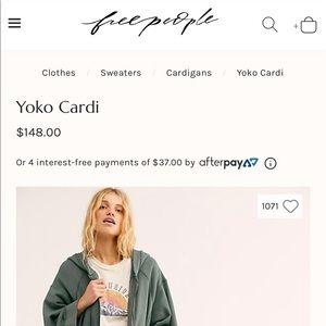 Free people yoko cardigan